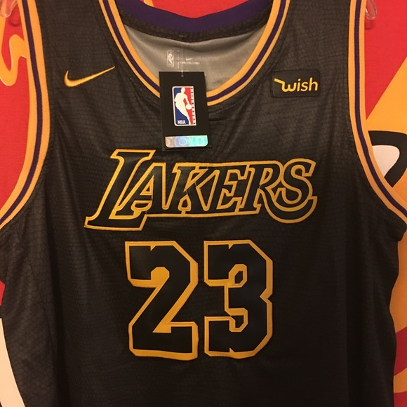 reputable site e2cf1 6fece LA Lakers Lebron James Nike City jersey size XL